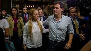 En imágenes: la esposa de Leopoldo López recibe a Albert Rivera en Venezuela
