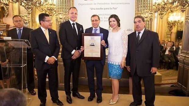 Luis Ayllón, premio «Personalidad iberoamericana del año»