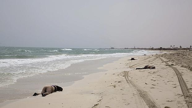 Hallan al menos un centenar de cadáveres en una playa de Libia