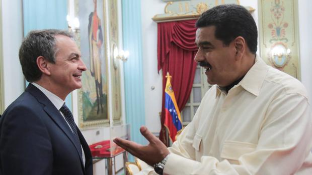 Zapatero, con Maduro, en una fotografía reciente