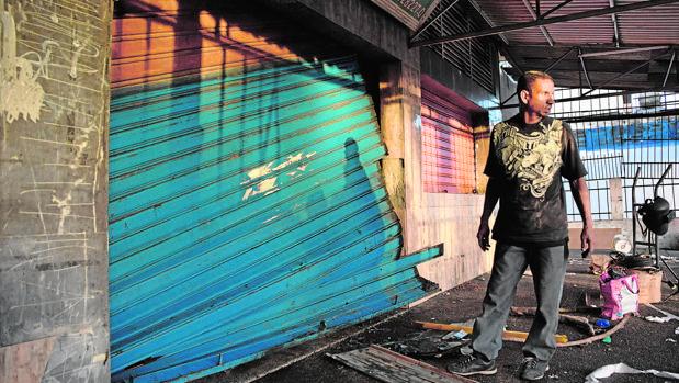 Destrozos en una tienda de Cumaná, que se libró de ser saqueada
