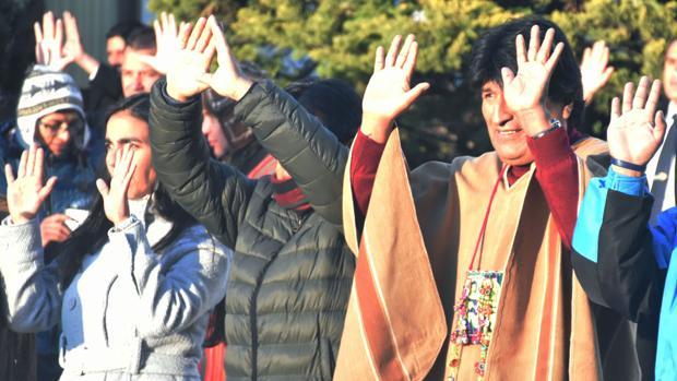 Evo Morales, durante la celebración ayer del Año Nuevo Andino Amazónico 5524
