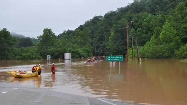 Las inundaciones causan 23 muertos en Virginia Occidental
