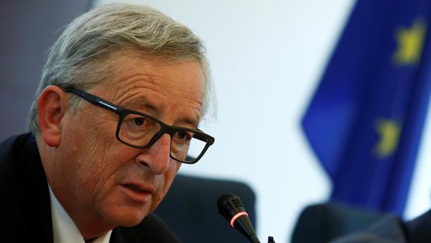 El presidente de la Comisión Europea, Jean-Claude Juncker, durante un acto hoy en Bruselas