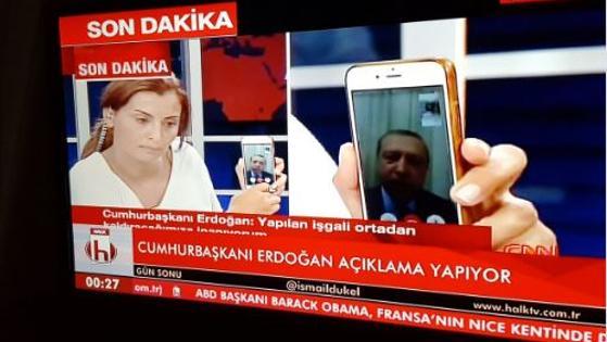 Erdogan, comparece vía «Facetime» para tranquilizar a su país