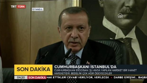 Erdogan, tras el golpe de Estado en Turquía: «Los responsables lo pagarán muy caro»