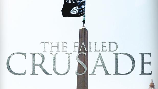 Portada de la revista de Daesh donde aparece la bandera yihadista en la Plaza de San Pedro