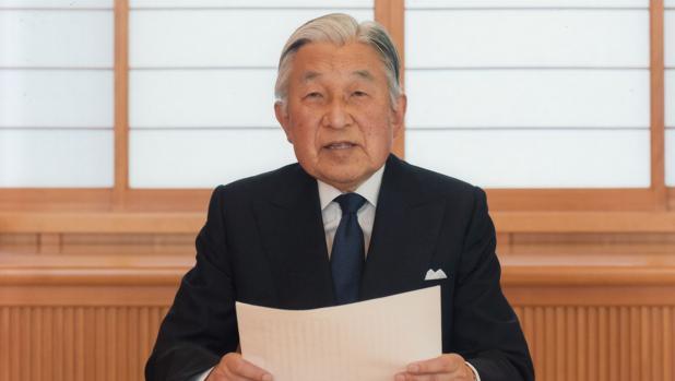 Akihito, durante su mensaje televisado a los japoneses de este lunes 8 de agosto