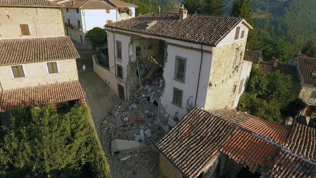 Imagen de los daños causados por el terremoto en Accumoli
