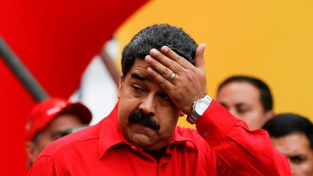 El presidente de Venezuela, Nicolás Maduro, durante un acto a favor del su gobierno este sábado en Caracas