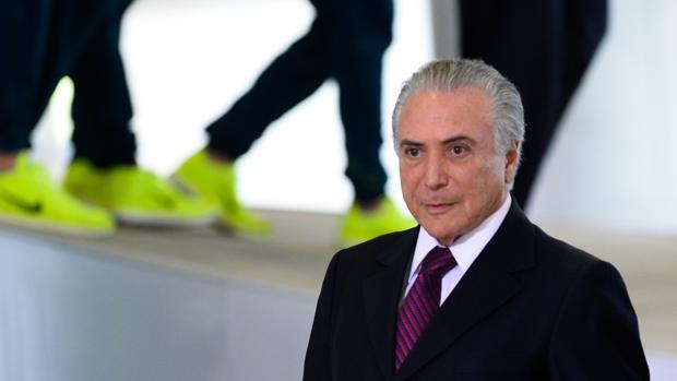 Michel Temer, en la ceremonia de clausura de los Juegos de Río 2016