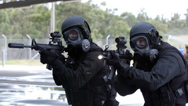 Miembros del Servicio Aéreo Especial británico (SAS)