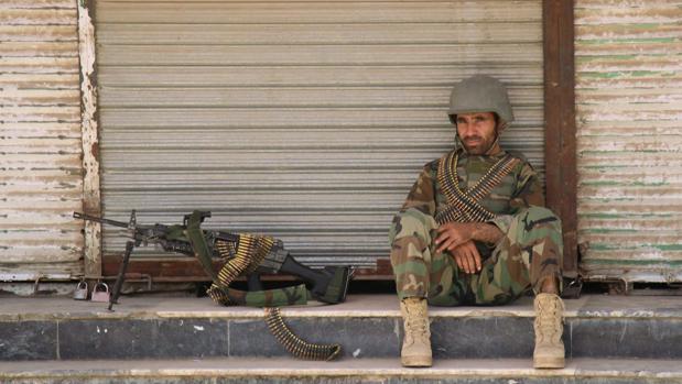 Un soldado afgano desplegado en Kunduz