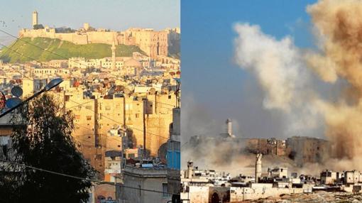 La Ciudadela. Construida en el siglo XIII y declarada Patrimonio de la Humanidad en 1986, fue dañada por el Ejército sirio en 2012