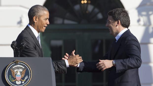 Obama recibe a Renzi en la Casa Blanca y destaca sus «audaces reformas»