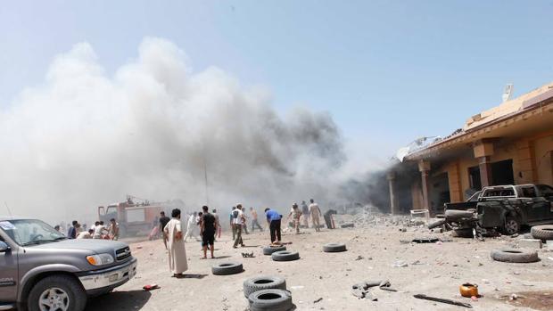 Un barrio de Sirte después de la explosión de un coche bomba en agosto