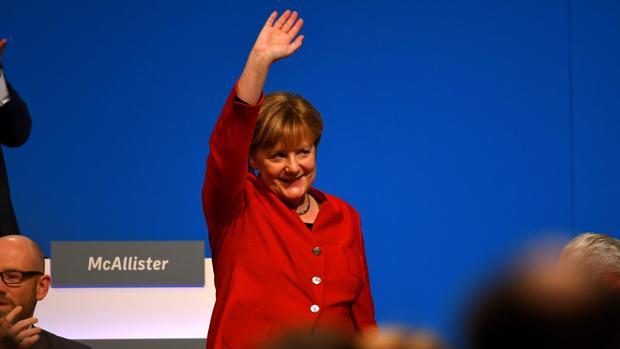 La canciller alemana, Angela Merkel, este martes durante el congreso de la Unión Cristianodemócrata (CDU)