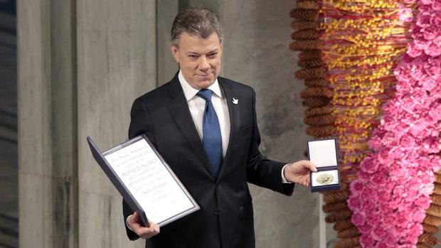 Juan Manuel Santos recibe el Nobel de la Paz junto a las víctimas del conflicto colombiano