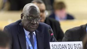 El representante de Sudán del Sur, Kuol Alor Kuol Arop, este miércoles en la vigésimo sexta sesión del Consejo de Derechos Humanos de la ONU