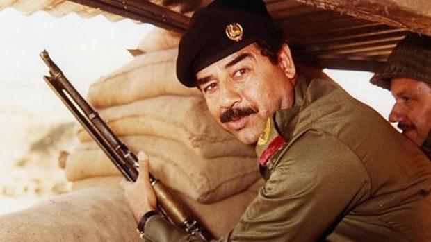 Saddam Hussein en la guerra Iran-Irak.