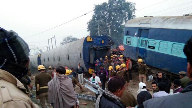 Al menos 43 heridos en un accidente de tren en el norte de la India