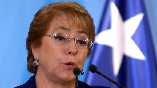 Bachelet, durante una rueda de prensa el pasado mes de diciembre