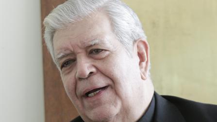 El cardenal Jorge Urosa, durante una entrevista en su residencia de Caracas