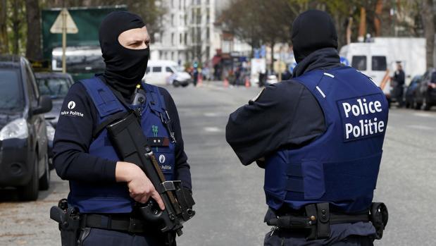 Miemrbos de la policía belga, en una fotografía de archivo