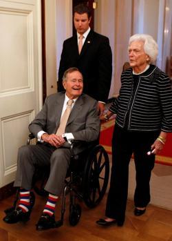 Con Barbara Bush acudió a un acto en la Casa Blanca en 2012
