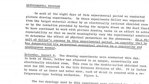 Informe desclasificado de la CIA sobre Uri Geller