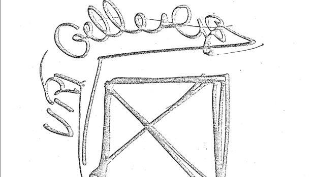 Un dibujo de Uri Geller durante las pruebas que le realizó la CIA
