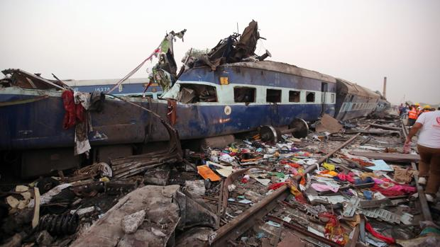 Foto de archivo del último accidente de tren de la India