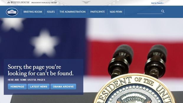 Image result for La Casa Blanca ya no tiene página web en español