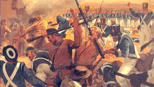Recreación de la batalla de El Álamo