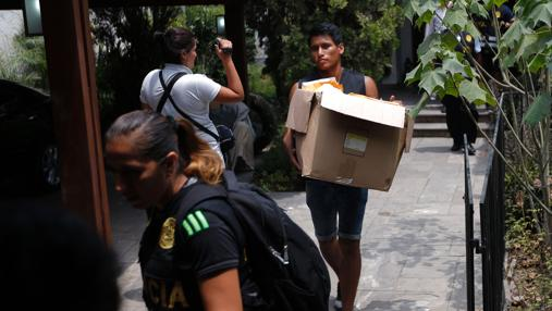 Registro de la vivienda del expresidente peruano Alejandro Toledo