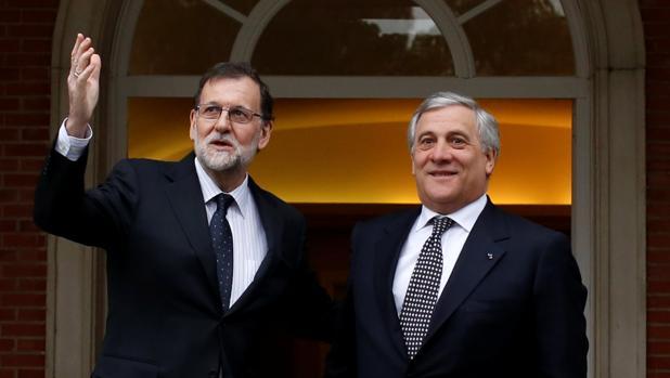 Mariano Rajoy y Antonio Tajani este viernes