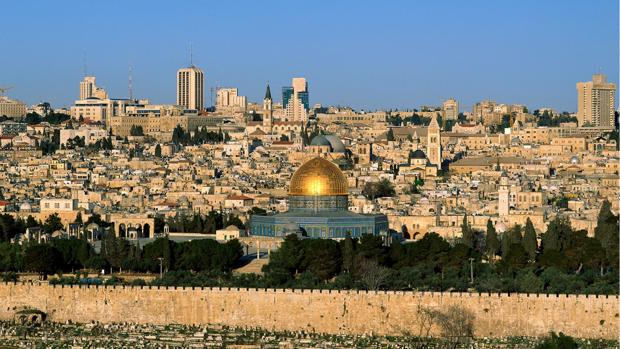 Vista parcial de la Ciudad Vieja de Jerusalén