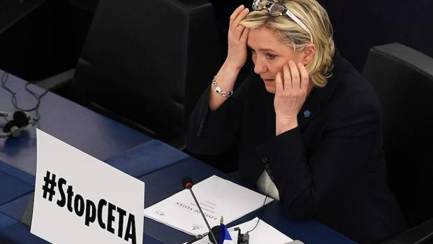 La líder de la ultraderecha francesa, Marine Le Pen