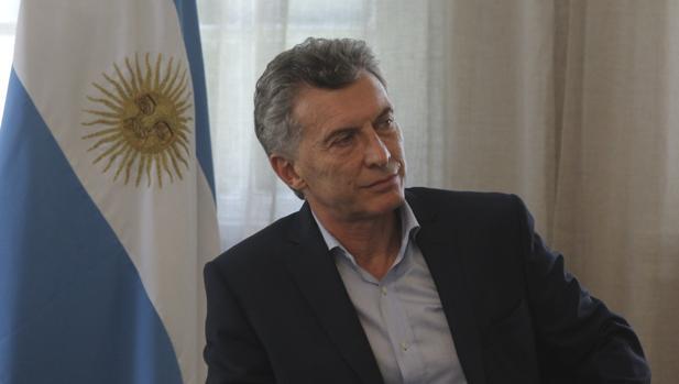 Mauricio Macri, durante la entrevista en la residencia presidencial de Olivos