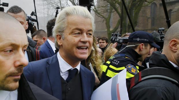 El político holandés antiislamista Geert Wilders