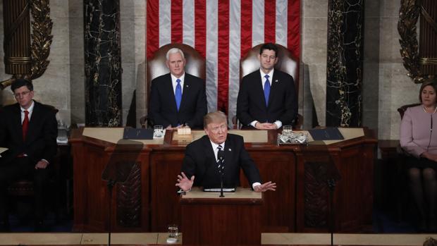 Donald Trump frente al Congreso