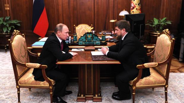 Vladimir Putin y Ramzan Kadirov en Moscú