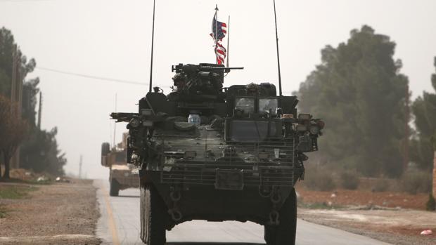 Vehículos militares norteamericanos en el norte de Siria