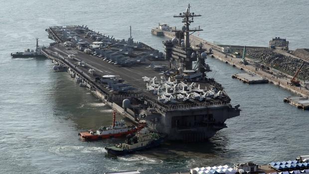 El portaaviones nuclear de EE.UU. llega a Corea del Sur en plena tensión