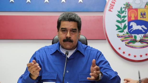 Maduro, en una reciente comparecencia