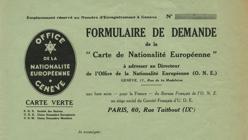 Formulario para solicitar la «nacionalidad europea»