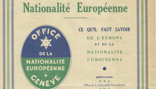 El proyecto planteaba la «nacionalidad europea», según los documentos obtenidos por el catedrático Félix Sagredo y a los que ha tenido acceso ABC
