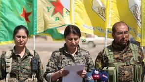 Los kurdos reclaman Raqqa, capital del «califato», para su futuro Estado en Siria