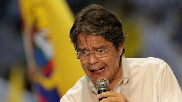Guillermo Lasso, en un acto electoral en Guayaquil