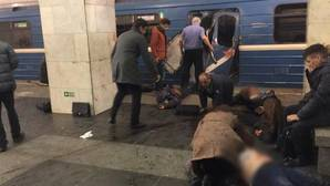 El metro de San Petersburgo tras la explosión